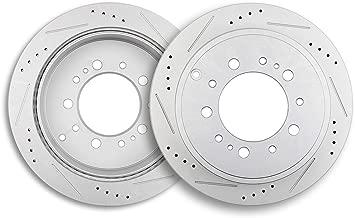 Brake Rotors,ECCPP 2pcs Rear Brake Discs Rotors Brakes Kits fit for 2008-2018 Toyota Land Cruiser,2008 2009 2010 2011 2012 2013 2014 2015 2016 2017 2018 Toyota Sequoia,2007-2018 Toyota Tundra