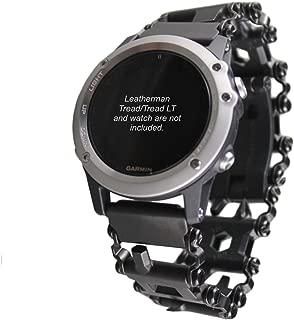 BestTechTool watch adapter compatible with LEATHERMAN TREAD/TREAD LT - BTT adapter- BLACK (Garmin Fenix5X-Fenix6x-Fenix 3 (see description), TREAD LT)
