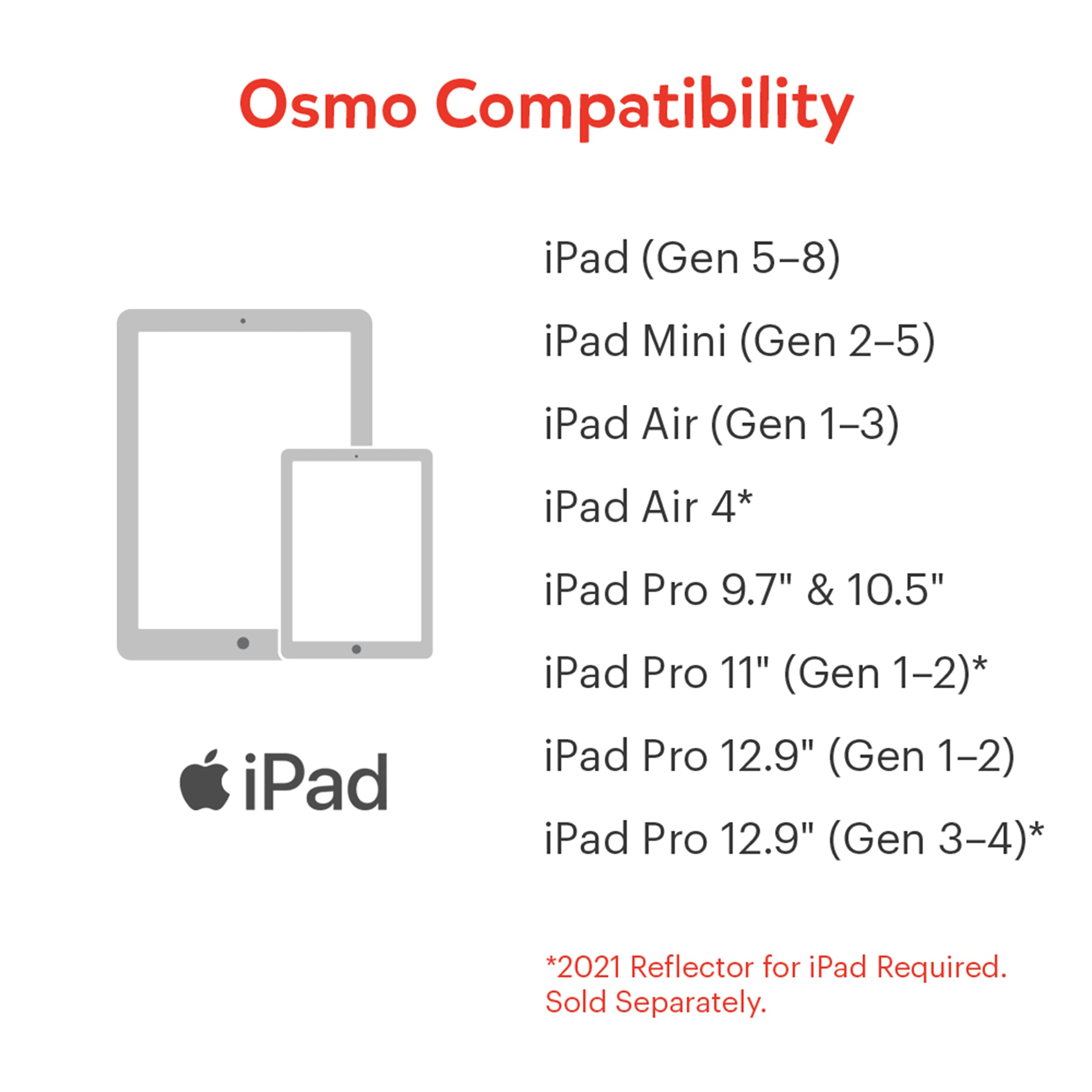 Osmo - Little Genius Starter Kit for iPad - 4 Educational Learning Games - Ages 3-5 - Phonics and Creativity - (Osmo - iPad Base Included)