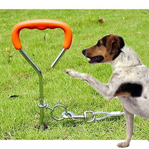 Sizing: 45cm * 9mm, Dog Pile Fixation Spiral-Nagel mit Handgriff for Spiritualist Kleiner Hund weitsichtige Ausbildung im Freien Huangchuxin