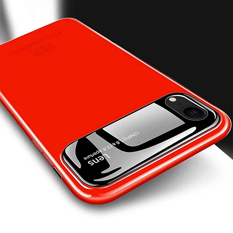 LZSUS Protective Cover Case for iPhone XR Full Coverage High Alumina Glass + PC + Lens Face Parnt Case for iPhone XR(Black) (Color : Red)