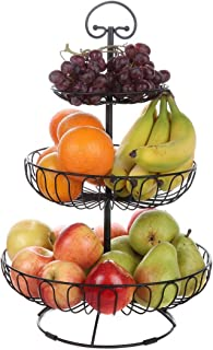 Lily's Home Wire Fruit and Vegetable Holder, 3-Tiered...
