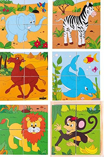 Woodyland 2 x 2 Safari Imagen Cubos del Rompecabezas