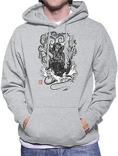 Hunter and The Demon Japan Alien Vs Predator Men's Hooded Sweatshirt