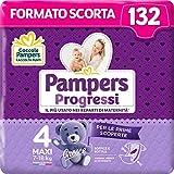 Pampers Progressi Maxi, 132 Pannolini, Taglia 4 (7-18 Kg)