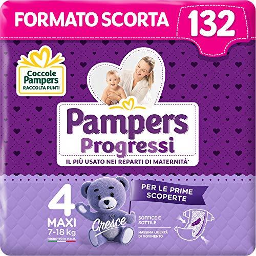 Pampers - Pañales Progressi Taglia 4 (132 Unità)