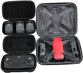 Hermitshell Hard EVA Travel Black Case Fits DJI Spark Intelligent Portable Mini Drone + Remote Controller + 3 Batteries