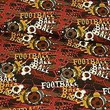 Baumwolljersey Fußball weinrot Kinderstoffe Modestoffe -