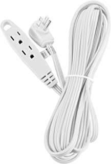 Aurum Cables 15-Feet 3 Outlet Extension Cord 16AWG Indoor/Outdoor Use White - UL Listed
