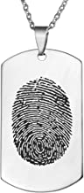 fingerprint memorial pendant