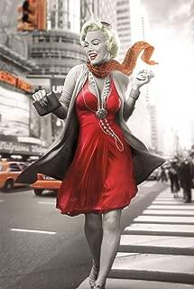 Pyramid America Marilyn Monroe New York Walk Blonde Bombshell Hollywood Actress Icon Black White Cool Wall Decor Art Print Poster 24x36