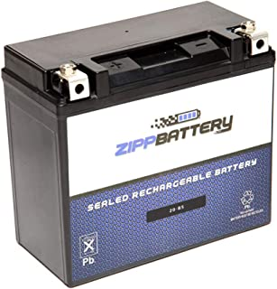 YTX20-BS Rechargeable Motorcycle Battery - Replacement for PTX20-BS, GTX20-BS, CTX20-BS - High Performance 270 CCA - Zipp Battery