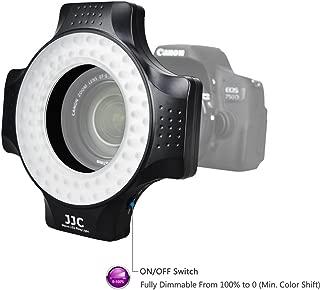 JJC Macro Ring Light for DSLR Macro Lens Such as Canon EF 100mm f 2.8L/EF-S 60mm f 2.8/MP-E 65mm f 2.8 1-5x/Nikon AF-S DX Micro 40mm f/2.8G, Includes 6 Adapter Rings for 49/52/55/58/62/67mm Macro Lens