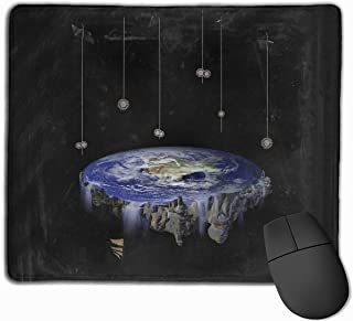 Flat Earth Gaming Mouse Pad Non-Slip Rubber Mousepad for Computers Desktops Laptop Mouse Mat 9.8