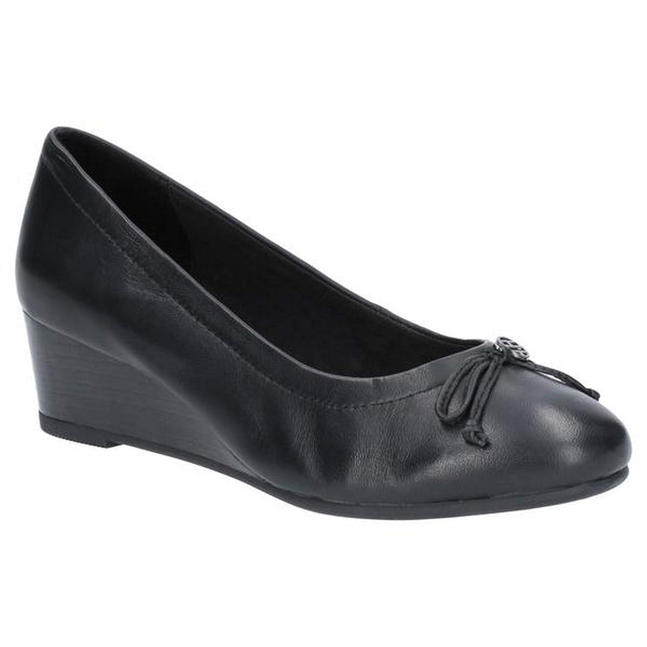 結果として絡まる病気[Hush Puppies] (ハッシュパピー) レディース Morkie Charm ウェッジシューズ 婦人靴 ヒール パンプス 女性用 (7 UK) (ブラック)