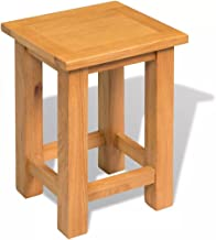 Festnight Nightstand End Table Solid Oak Living Room Furniture 27 x 24 x 37 cm 27 x 24 x 37 cm