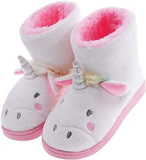 Shoeslocker Girls Warm Unicorn Bootie Slippers
