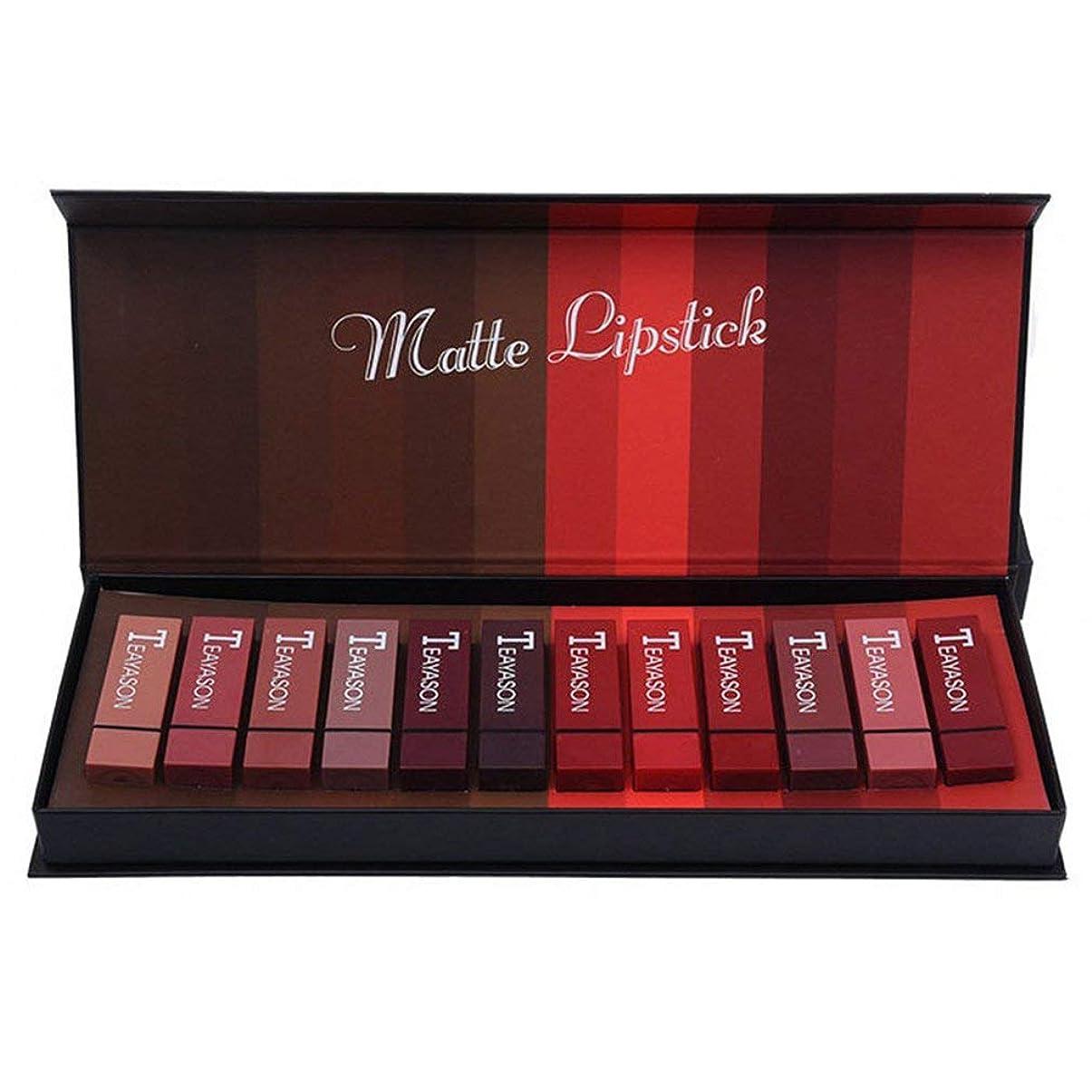 式変換するデコレーション新しいボックスハードボックス12色スクエアチューブセクシーな赤い口赤い霧フェイスリップスティックカボチャマットブリックレッドダーティーオレンジ