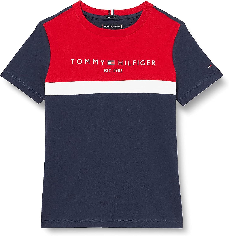 Tommy Hilfiger Essential Colorblock tee S/S Camisa para Niños