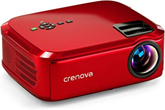 "Crenova Native 1080p Projector, 6000Lux Outdoor Movie Projector, Full HD Video Projector with 200"" Image Display, LED Home..."