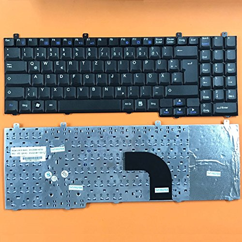 kompatibel für Medion Akoya P8611, P8610, MIM2280, MIM2270 Tastatur - Farbe: schwarz - Deutsches Tastaturlayout