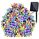 GDEALER Solar String Lights 72feet 200 LED 2 Modes Solar Powered Waterproof Starry Fairy Outdoo…