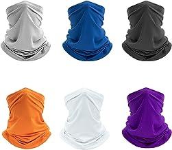 Victagen 6 Pack ماسک صورت با مقاومت در برابر اشعه ماورا بنفش باندانا ، بالاکوا سبک سبک و تنفس ، گیتر گردن شستشوی قابل استفاده مجدد ، روسری روسری برای مردان - ماهیگیری ، دوچرخه سواری ، پیاده روی ، کمپینگ