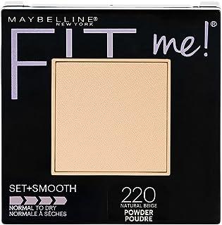 Maybelline New York Fit Me Set + Smooth Powder Makeup, Natural Beige, 0.3 oz.