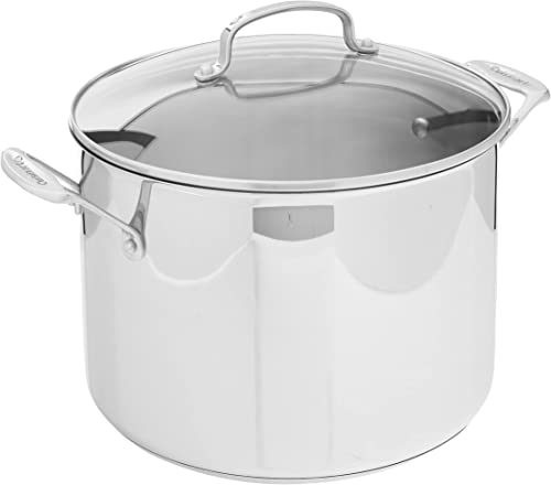 discount Cuisinart 76610-26G Chef's Classic 10-Quart Stockpot with wholesale Glass Cover,Brushed 2021 Stainless online