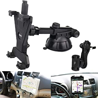 """Tablet Holder for Car Mount,PLDHPRO 2-in-1 Car Air Vent,Dashboard Windshield Mount,360° Rotation Adjustable for iPad Air/Mini, Nintendo Switch,Samsung,Tablets 6""""- 10.5"""",TPU Suction Sticky Gel"""