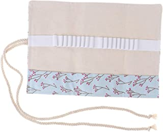 Blesiya Canvas Pencil Wrap Roll Up Pencil Case Pen Holder Bag Storage Pouch Slots Style 2