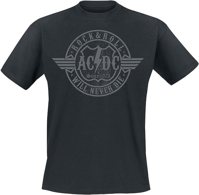 AC/DC Rock & Roll - Will Never Die Hombre Camiseta Negro