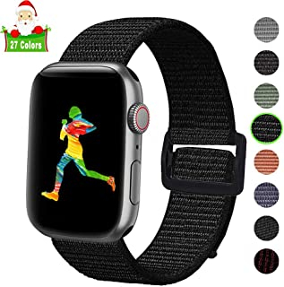 Lesampo for Apple Watch Band 40mm 44mm Series 4,for Apple Watch Bands 38mm 42mm Series 3 2 1,Fit for Iwatch Sport Loop Band Nylon