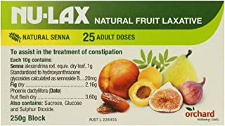 Nulax Fruit Laxative Block 250g Made From Pure Dried Fruits Made in Australia
