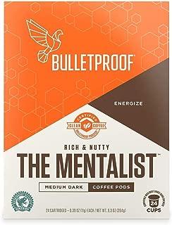 Bulletproof The Mentalist Roast Coffee Pods, Premium Dark Roast, Organic, Single-Serve K-Cups, Keurig, Keurig 2.0 (24 Count)