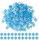 Gwhole 600 Pcs Confettis de Table Flocon de Neige Bleu pour Table de...