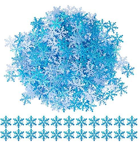 Gwhole 600 Pz Fiocchi di Neve Confetti per Natale Snowflake Confetti Ornament Natale Tabella Decor Artificiale del Fiocco di Neve