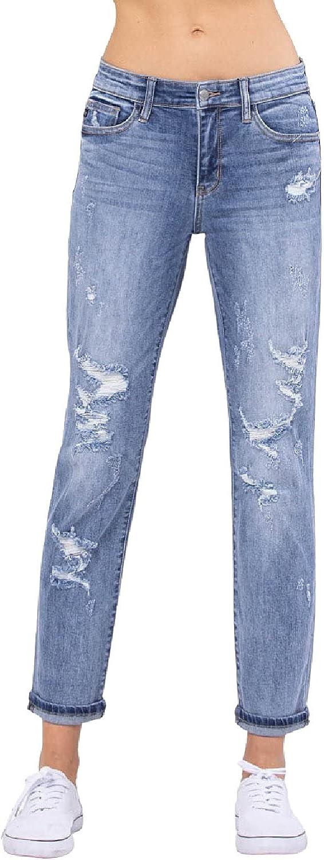 Judy Blue Destroyed Boyfriend Jeans! Your New Favorite Boyfriend Jeans! (Style: 82193)