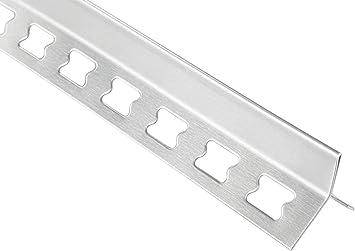 2 Meter |/Fliesenschiene L-Form diverse Gr/ö/ßen |/HEX100 SP Edelstahl V2A
