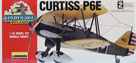 Lindberg 1:48 Golden Age of Biplanes Curtiss P6E P-6 E Plastic Model Kit #72542