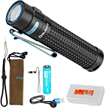 Olight S2R II (S2R Upgrade) 1150 Lumen Rechargeable LED Flashlight with Magnetic Charger, Rechargeable Battery and LumenTac Battery Organizer