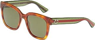 Gucci Square Women's Sunglasses - GG0034S00354 - 54-20-140 mm