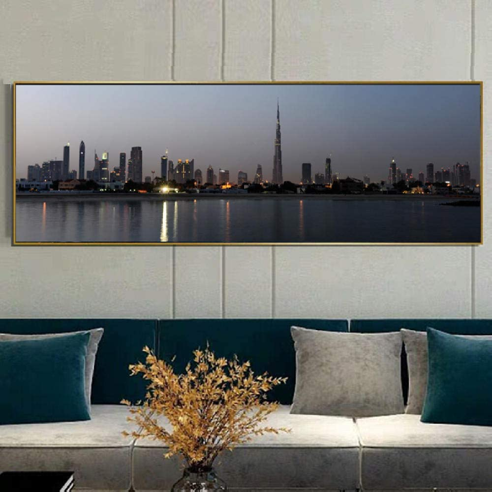 QZROOM Topics on TV Art Prints Cash special price Landscape Night View Dubai City Posters and of