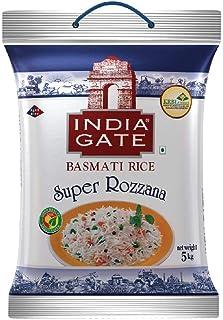 INDIA GATE Super Rozanna Aged Basmati Rice | Long Grain Everyday Rice, 5 Kg Pack