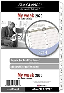 AT-A-GLANCE 2020 Weekly & Monthly Planner Refill, Day Runner, 5-1/2