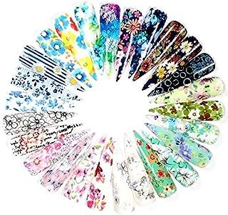 16 sheets Retro rainbow paisley bandana geometric floral NAIL FOILS Modern Boho Mandala Mehndi HENNA HAND nail wrap bohemian flower child hippy NAIL DECAL gold leaves botanics psychedelic decor (8cf)