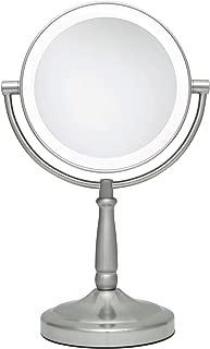 Zadro 10X/1X Magnification Dual-Sided Vanity Mirror, Satin Nickel