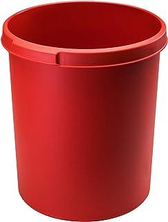 Han 1834-17 - Cestino per la carta classico, 6 pezzi, volume 30 litri, design attraente, elegante e stabile, colore: Rosso