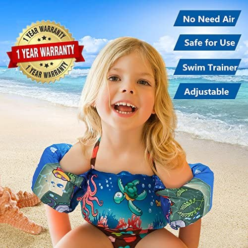 FireBee Swim Arm Bands Trainer Float Jacket Vest Learn Swimming Independence Fun Aid Water Pool Beach