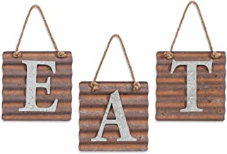 Xing Cheng Eat Sign for Kitchen,Metal Letter Farmhouse Eat Sign,Country Rustic Farmhouse Home Decor Sign Wall Art